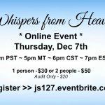 Whispers from Heaven – Online Mediumship Demonstration