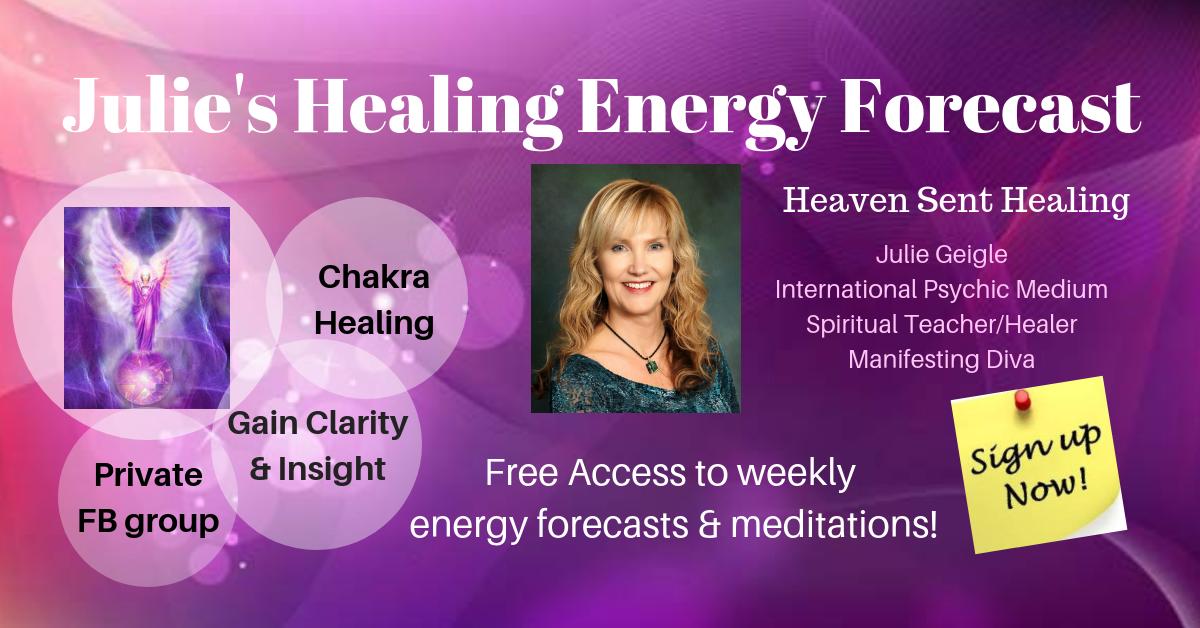 Banner Julie's Healing Energy Forecast