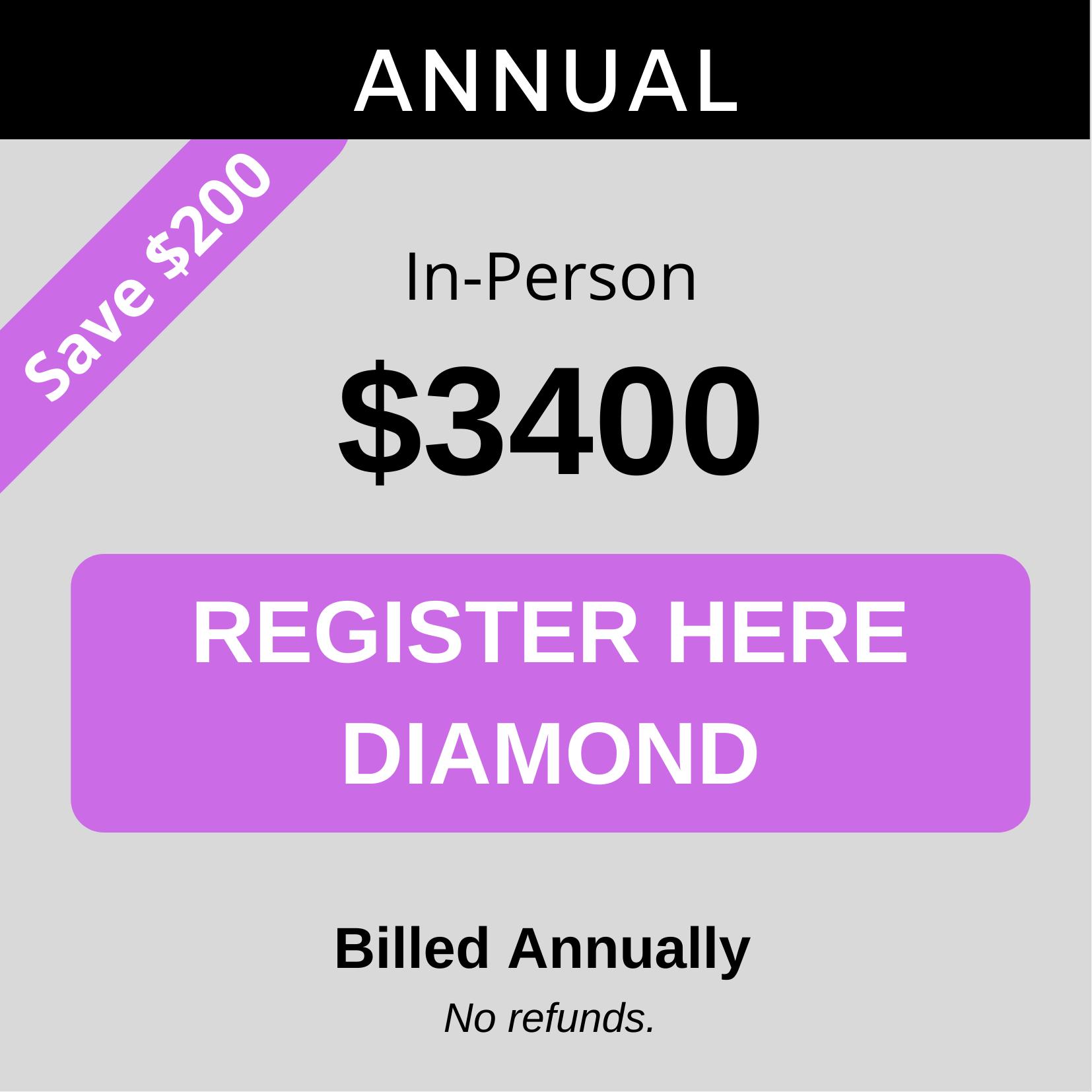 Diamond Annually inperson